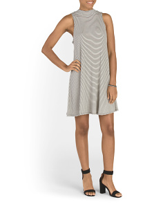 Juniors Made In USA Ribbed Stripe Dress