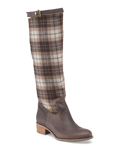 Made In Italy Plaid Pull Up Boot