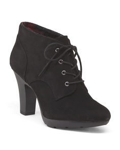 Suede Lace Up Shootie