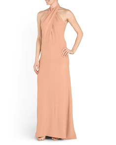 Made In Italy Silk Halter Gown