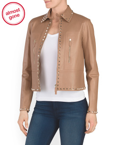 Made In Italy Leather Rockstud Jacket