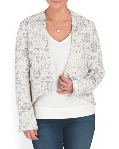 Cropped Jacket With Band