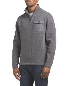 Quarter Zip Fleece Pullover Sweater