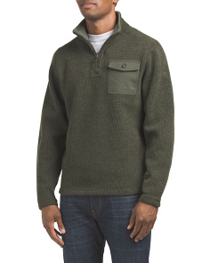 Fleece Lined Pullover Sweater