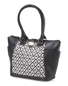 Janet Two Tone Tote