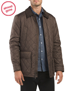 Quilted Elbow Patch Jacket