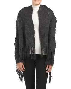 Fringed Sweater Cardigan
