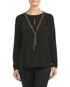 Silk Blouse With Necklace