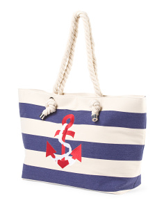 Canvas Anchor Rope Tote