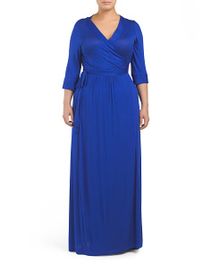 Plus Maxi Wrap Dress