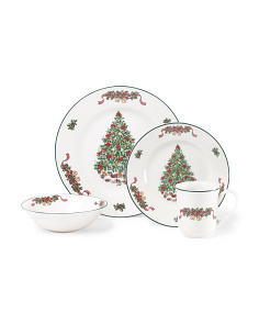16pc Victorian Christmas Dinnerware Set