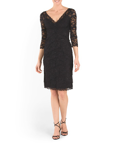 Tiered Lace Dress With Sequins