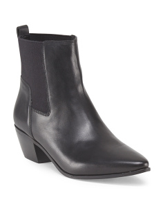 Leather Low Bootie