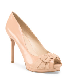 Peep Toe Platform Pump With Bow