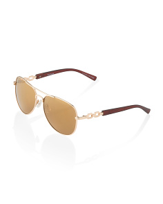 Aviator Sunglasses With Mirror Lens
