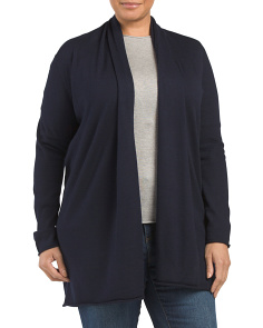Plus Rolled Hem Cardigan