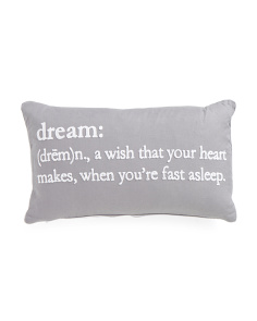 14x24 Dream Definition Pillow