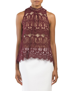 Juniors Large Chandelier Lace Top