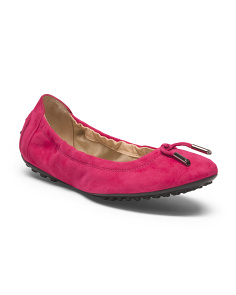 Made In Italy Suede Ballet Flat