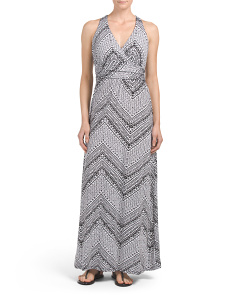 V Neck Twist Back Maxi Dress
