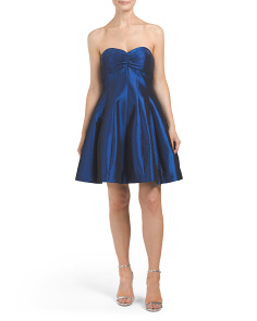 Made In USA Strapless Flare Dress