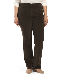Plus Corduroy Marilyn Straight Pant