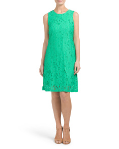 Sleeveless Daisy Lace Dress