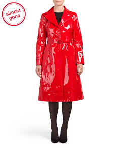 Made In Italy Patent Leather Trench