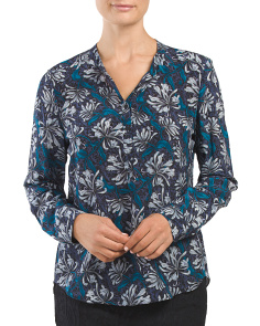 Silk Long Sleeve Mystic Garden Top