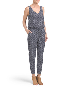 Made In USA Floral Print Jumpsuit