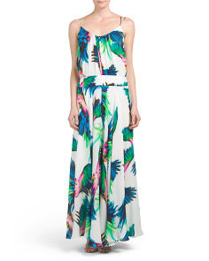 Made In USA Silk Maxi Dress