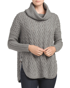 Juniors Long Sleeve Cowl Sweater