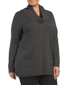 Plus Cowl Neck Tunic