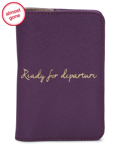 Ready For Departure Passport Case