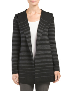 Merino Hooded Double Knit Cardigan