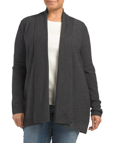 Plus Merino Wool Flyaway Cardigan