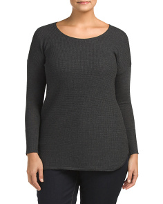 Plus Merino Wool Stitched Sweater
