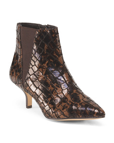 Patent Leather Bootie With Side Gore