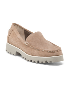 Suede Lug Sole Loafer