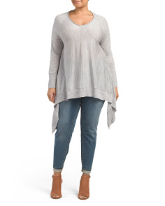 Plus Merino Wool Pointelle Sweater