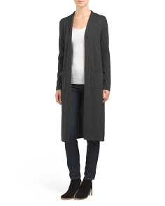 Cashmere Long Sleeve Duster