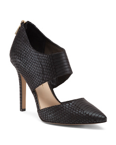 Snake Print Caged Pumps