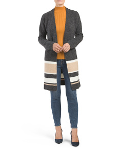 Made In Italy Striped Cardigan
