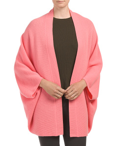 Cashmere Cocoon Texture Cardigan
