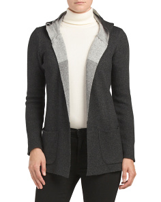 Made In Italy Open Front Cardigan