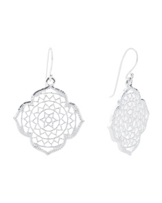 Made In Italy Sterling Silver Marrakesh Lace Earings