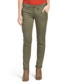 Juniors Roll Cuff Utility Chino Pants
