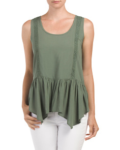 Juniors Drop Waist Trim Tunic