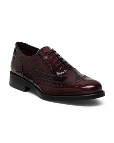 Made In Italy Menswear Patent Leather Oxfords