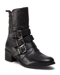 Made In Italy 3 Buckle Booties